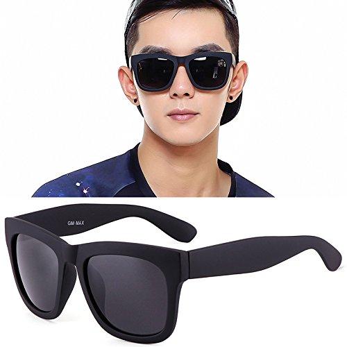 KLXEB De Gafas Polarizador Negro Sol Gafas Hombre Negro Cuadrados Negros BBUxqwa1