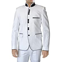 INMONARCH Mens Stunning White Linen Suit LS47