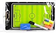 Joyeee Double-Sided Football Soccer Magnetic Clipboard Magnetic Coach Board with Dry Eraser, Marker Pen, Magne