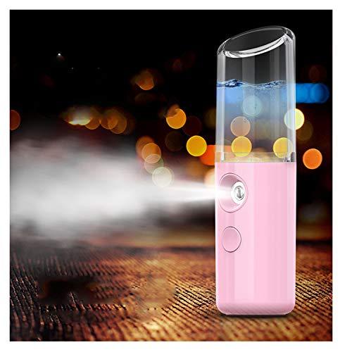 Women Warm Mist Humidifier Atomizer Sprayer Moisturizing Face Spa Pink