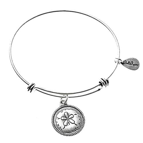 BellaRyann Sand Dollar Expandable Bangle Charm Bracelet In Vintage Finish