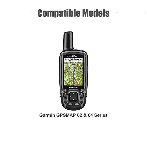 TUSITA Case for Garmin GPSMAP 62 62s 62st 62sc 62stc 64 64s 64st 64sc 64x 64sx 64csx - Silicone Protective Cover - Handheld GPS Navigator Accessories (Black)