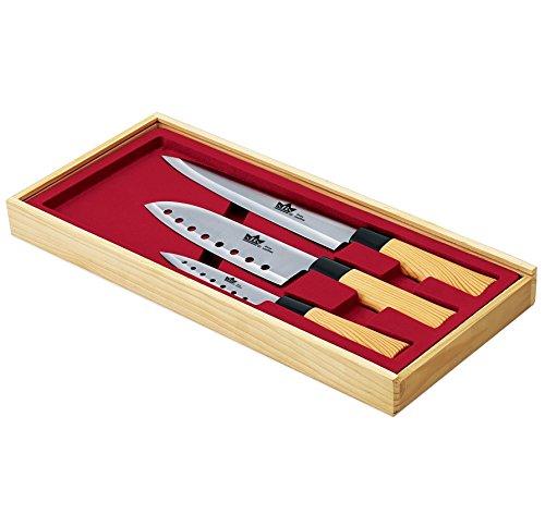 3 tlg. Edelstahl Sushi Messer Sushimesser Messerset Küchenmesser Set