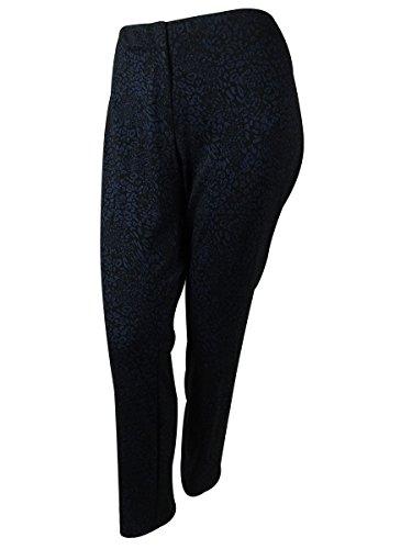 Alfani Women's Animal Print Pants (20W, Animal Navy)