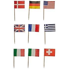 Beistle International Flag Picks (asstd Designs)