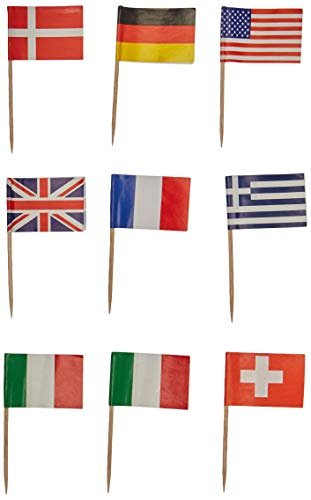 International Flag Picks (asstd designs)    (50/Pkg)