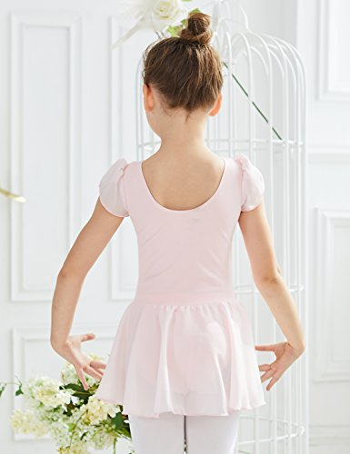 54fd5d423 MdnMd Ballet Leotard for Toddler Girls with Flutter Sleeve (Ballet ...