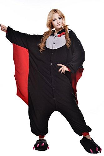 [Newcosplay Adult Unisex Onesie Pajamas Costume (M, Bat)] (Mens Owl Costumes)