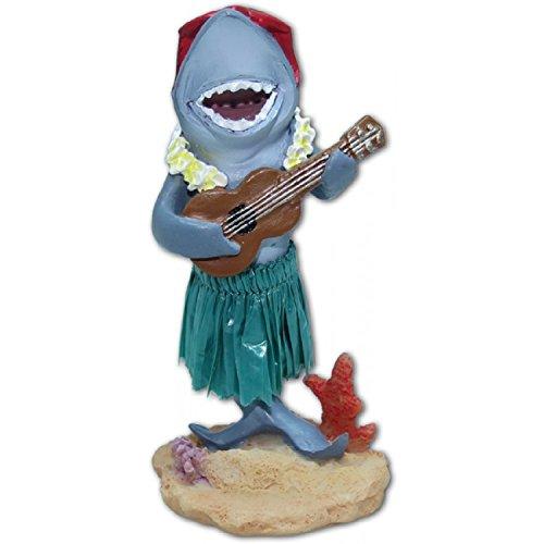 Exotenherz. de –  Statuetta hawaiana Hula per cruscotto squalo con Ukulele KC Hawaii