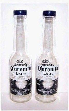 Corona Salt and Pepper Shakers (1 Pair of 7oz Coronita Extra Bottles and Caps) by Corona by Corona