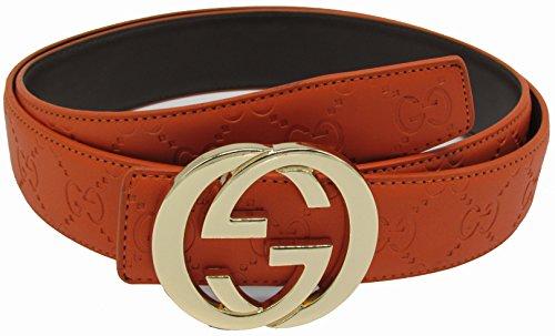 Fashion-Sir88:Fashion leather G belt buckleStyle unisex Business Casual Belt
