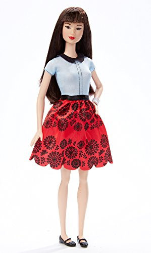Barbie Fashionistas Doll 19 Ruby Red Floral - Original