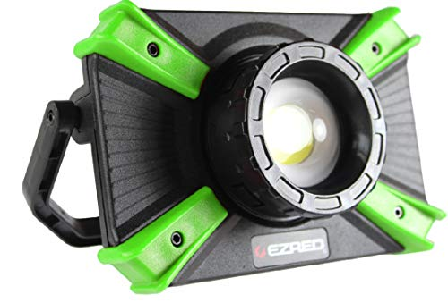 Ez Red Extreme Light - EZ RED XLF1000-GR 1, 000 lm Micro-USB Rechargeable Work Light, Black, Green