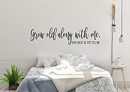 Amazon.com: Che3423erth Master Bedroom Decor Bedroom Decal Grow Old ...