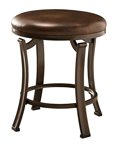 Hillsdale Hastings Backless Vanity Stool, Antique Brown
