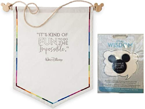 DISNEY WISDOM BANNER CANVAS WITH MICKEY PIN DUMBO JANUARY RELEASE