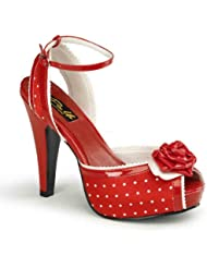 Pin Up Couture BETTIE-06 Women Peep Toe Ankle Strap Sandal
