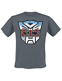 Transformers T Shirt Distressed Autobot Shield new Official Mens Black