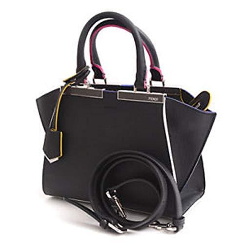 - Fendi Women's Mini 3jours Shopping Multicolor Trim Top-Handle Bag Black Multi