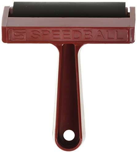 Pure Gum Rubber (Speedball Pop-In Hard Rubber Brayer with Plastic Frame, 4 Inches)