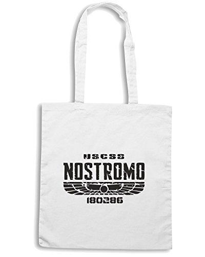 T-Shirtshock - Bolsa para la compra TGAM0003 ALIEN 1979 USCSS NOSTROMO Blanco