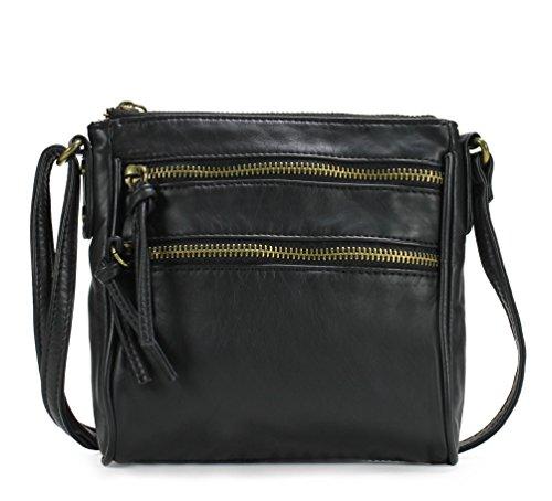 Scarleton Mini Trendy Front Dual Zipper Crossbody Bag H1907
