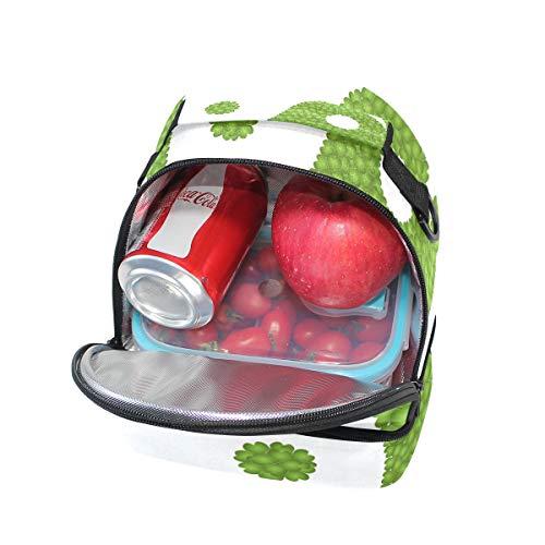 para ajustable el para correa picnic con de almuerzo color hombro verde doble Bolso qwPSvxO
