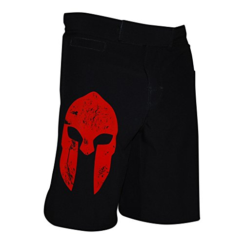WarriorXGear Spartan Performance Cross-Training Shorts (RED/Black, 36)