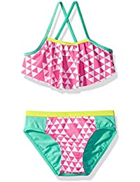 Baby Girls' Triangle Print Two Piece Swimsuit