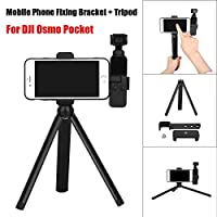 Insaneness for DJI Osmo Pocket Handheld Cam Multifunction Tripod Mount Stand Phone Holder (Black)