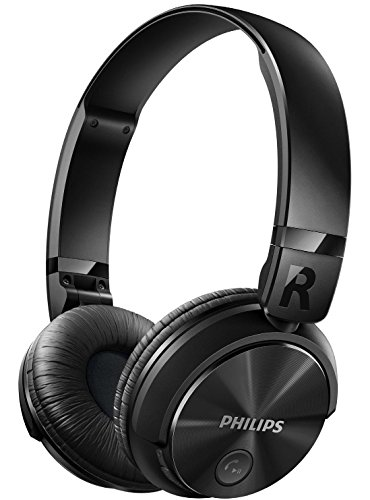 Philips SHB3060BK - Auriculares Bluetooth inalámbricos con sonido potente (manos libres, totalmente plegable) color negro: Philips