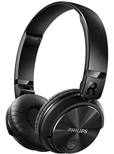 Philips SHB3060BK - Auriculares Bluetooth inalámbricos con sonido potente (manos libres, totalmente plegable) color negro