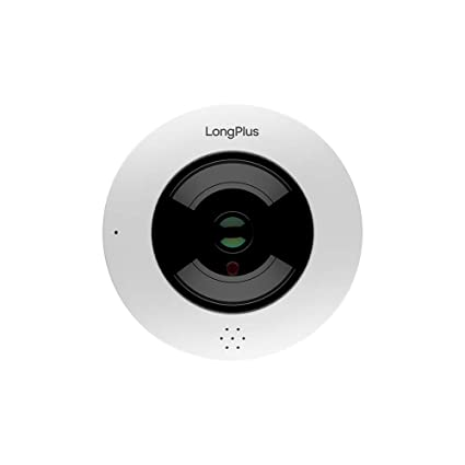 LongPlus Wi-Fi Fisheye Onvif Network Camera, HD 1080P 2MP Resolution 5MP  Lens, 360 Degree View, White (LPIPC2MF)