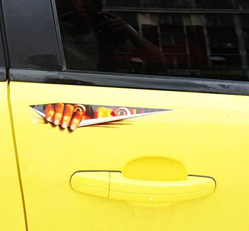 FAED Graphics Decals Car Stickers Lovely Funny Peeking 3D Window Door Auto