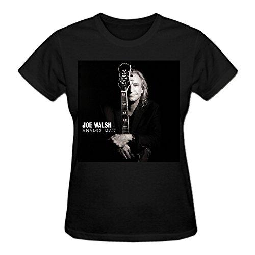 Abover Joe Walsh Analog Man T Shirts For Women Funny Round Neck Black