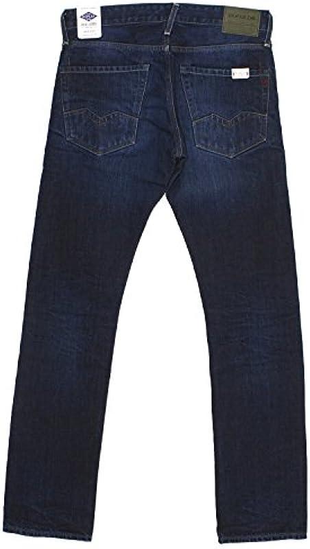 Replay, dżinsy męskie spodnie, waitom Regular Slim, Denim, DarkBlue [18435]: Odzież