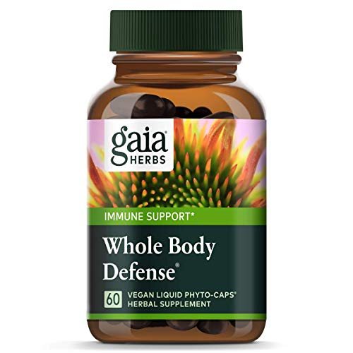 (Gaia Herbs Whole Body Defense, Vegan Liquid Capsules, 60 Count - Daily Immune Support and Wellness Formula, Astragalus, Maitake & Organic Echinacea)