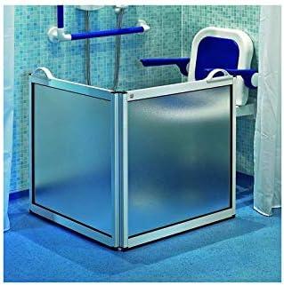 AKW - Mampara de Ducha portátil con 2 Paneles de Ducha PMR: Amazon.es: Hogar