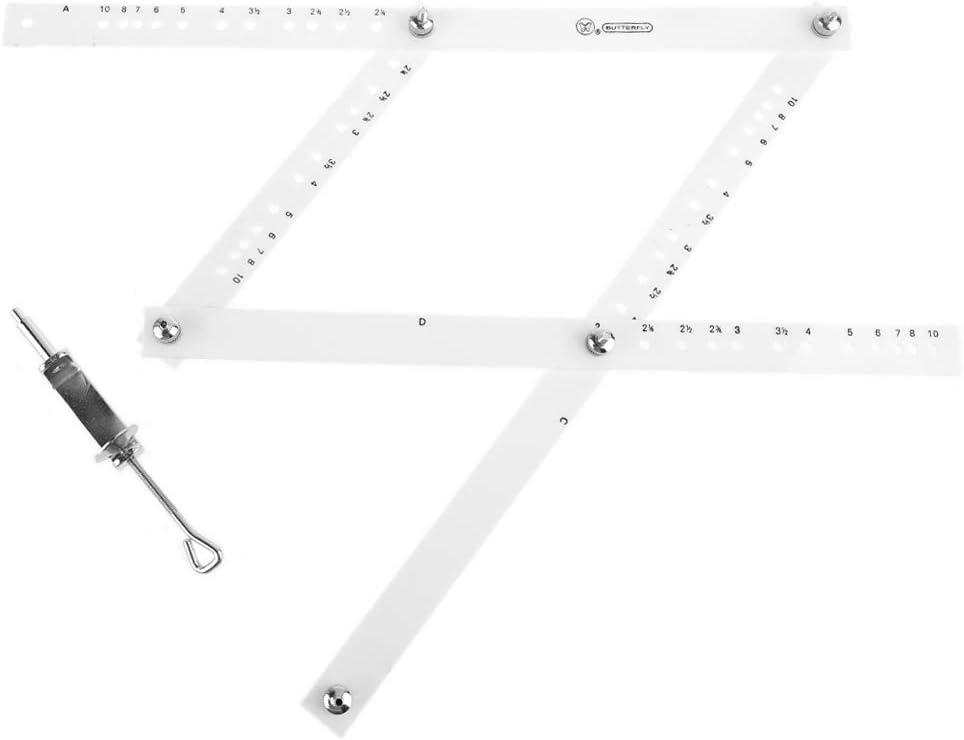 geneic Regla de Dibujo Escala de 34 cm Artista Pantografo Plegable Regla Reductora Ampliadora Herramienta de Arte Artesan/ía Para la Oficina de la Escuela de