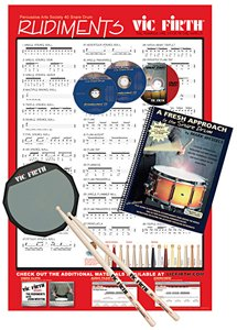 Vic Firth Fresh Approach Starter Pack (includes SD1, Practice Pad )
