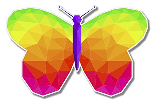 Butterfly Triangles Colorful Vinyl Sticker - Car Window Bumper Laptop - SELECT SIZE