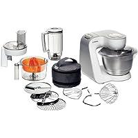 Bosch MUM54230 Küchenmaschine Styline / 900 Watt / Edelstahl-Rührschüssel / Durchlaufschnitzler / Mixeraufsatz Kunststoff / Rühr-/Schlagbesen und weiters Zubehör