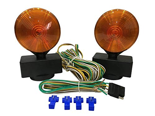 Dual Sided for RV, Boat, Trailer and More DOT Approved MaxxHaul 80778 Magnetic Towing Light Kit