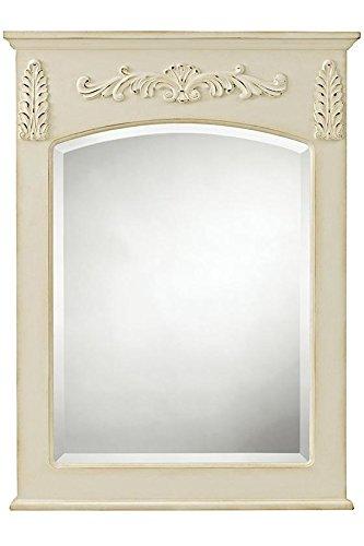 """Chelsea Bath Mirror, 35""""Hx26""""Wx2""""D, ANTIQUE WHITE"""