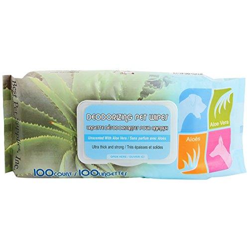 Best Pet Supplies 100-Piece Unscented Pet Wet Wipes with Aloe Vera by Best Pet Supplies, Inc.