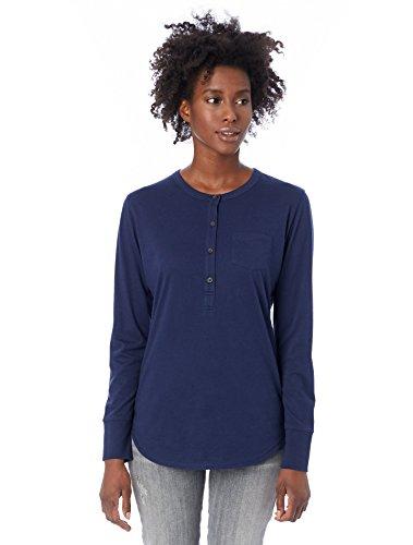Alternative Women's Organic Pima Button up Henley Shirt
