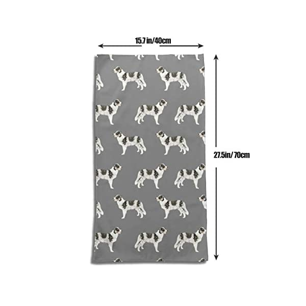 "WELCOMEH Border Collie Blue Merle Dogs Microfiber Towels 27.5"" X 17.5"" Polyester Personality Funny Pattern Super Absorbent for Bathroom,Kitchen,Wash Car,Cleaning Towel 3"