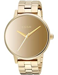Nixon Womens Kensington Quartz Stainless Steel Casual Watch, Color:Gold-Toned (Model: A0992764)