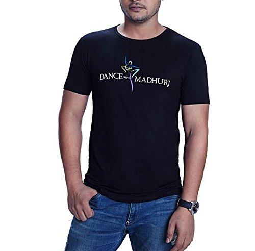 852c38f40f8 Madz Men s Cotton T-Shirt (MDz-COL-RON-BLK Black XX-Large)  Amazon ...