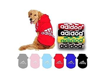 Qiao Niuniu Adidog Autumn Winter Cotton Pet Dog Jacket Sweater Clothes Hoodie Coat